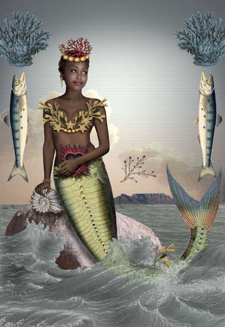 karin miller - sea changes.African Mermaid with heart