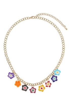Bright Ditsy Flower Necklace 8.50