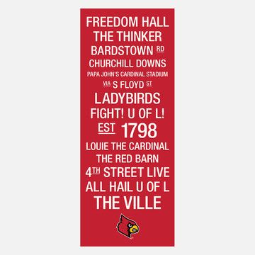 Louisville Cardinals Wall Art, $129, now featured on Fab.