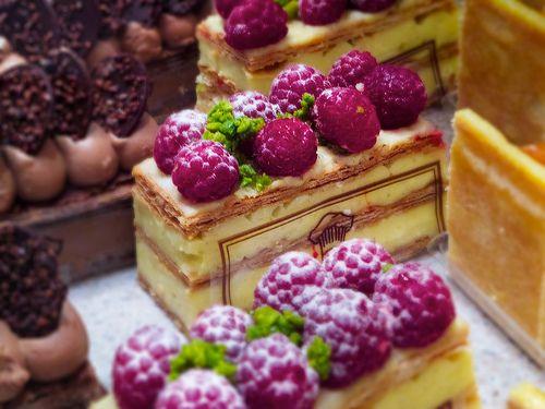 raspberry white chocolate mousse....