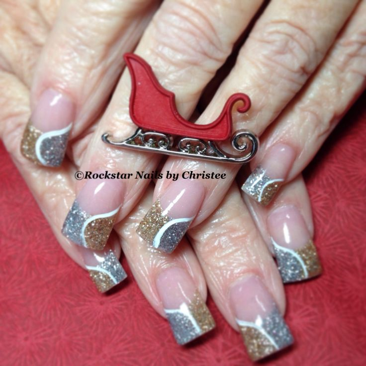 New Rockstar Acrylic Nail Designs: #rockstar_nails_by_christee #acrylic #nails #acrylicnails