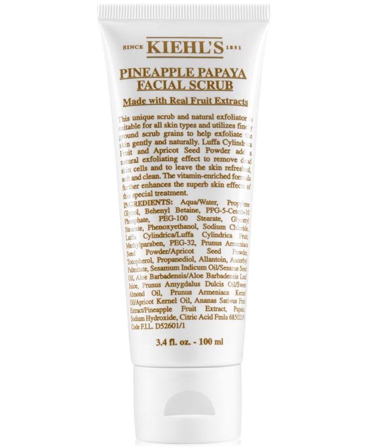 Kiehl's Since 1851 Pineapple Papaya Facial Scrub, 3.4-oz.