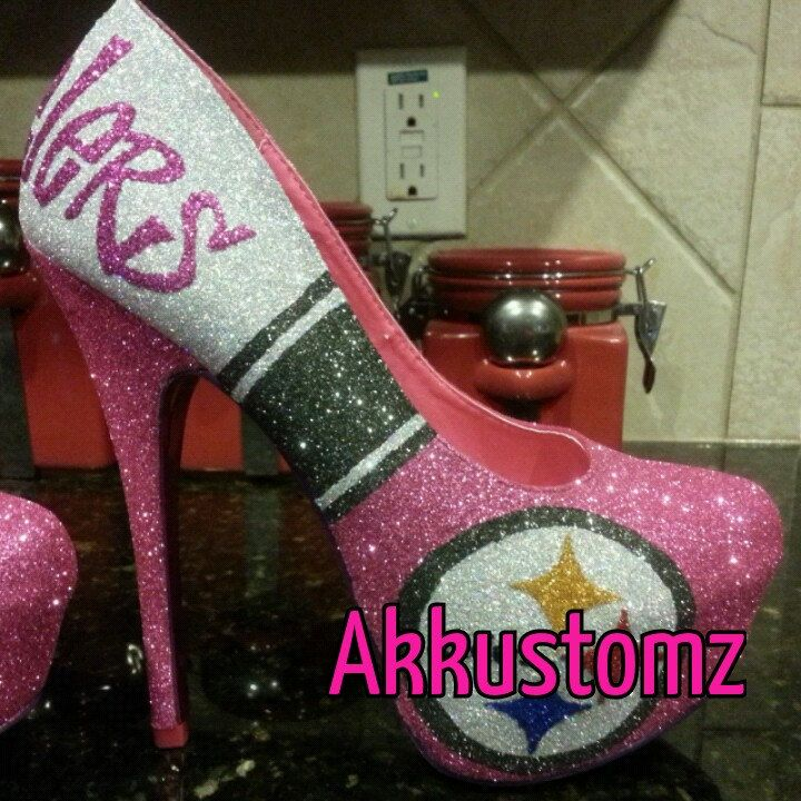 Custom Pittsburgh Steelers Heels By Akkustomz On Etsy, $180.00