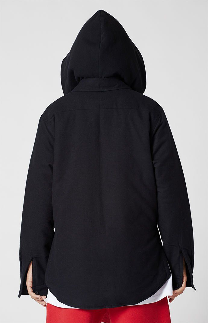 78677390 FOG - Fear Of God Essentials Hooded Zip Shacket | PacSun | Detail ...