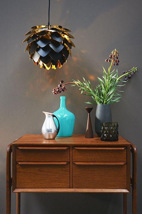 Mid Century Modern Sideboard   Aqua Vase   Fietje Bruijn