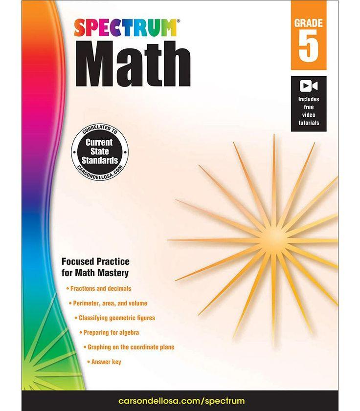 Spectrum Math Workbook