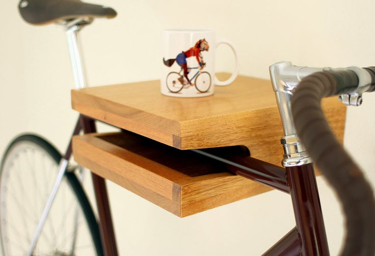 Hardwood bike rack & shelf *MINI* (handmade) by Porventura on Etsy https://www.etsy.com/listing/256011953/hardwood-bike-rack-shelf-mini-handmade