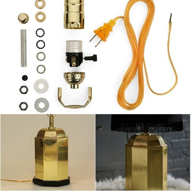 672 best table lamp bases images on pinterest diy lamps for Table lamp electrical kits