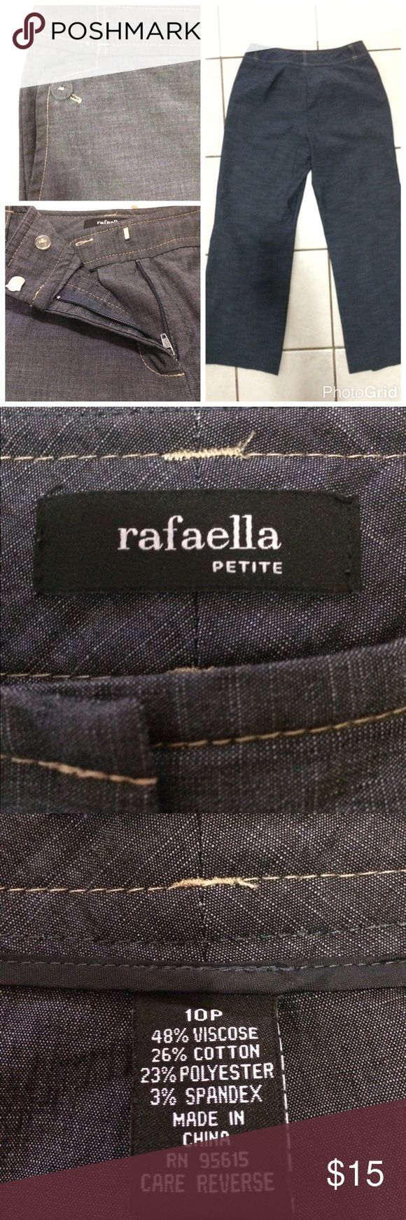 Rafaela Patite casual pant 10P Lovely like new with no tags, never worn, casual jean print pant. Wide leg. Thin with great stretch material! Rafaella Pants Wide Leg