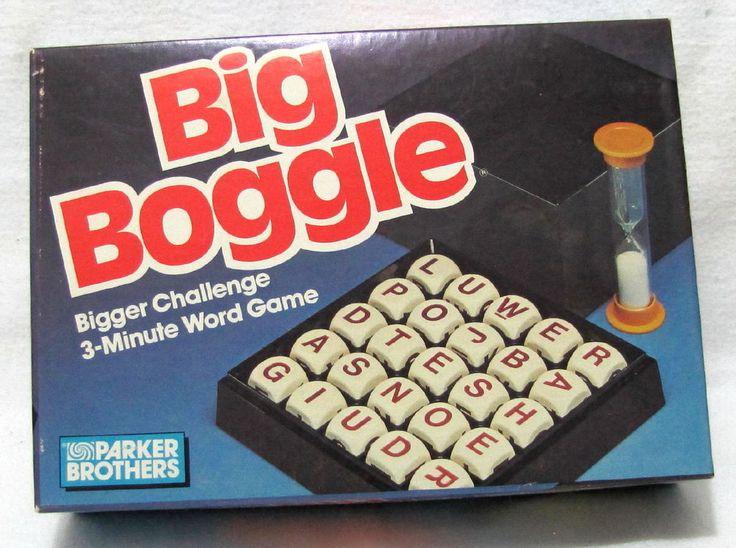 Vintage 1987 Parker Brothers BIG BOGGLE Word Cube Game xclnt #ParkerBros