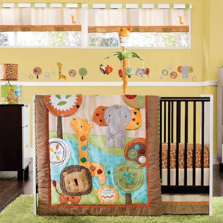 KidsLine Safari Dream 4 Piece Crib Bedding Set