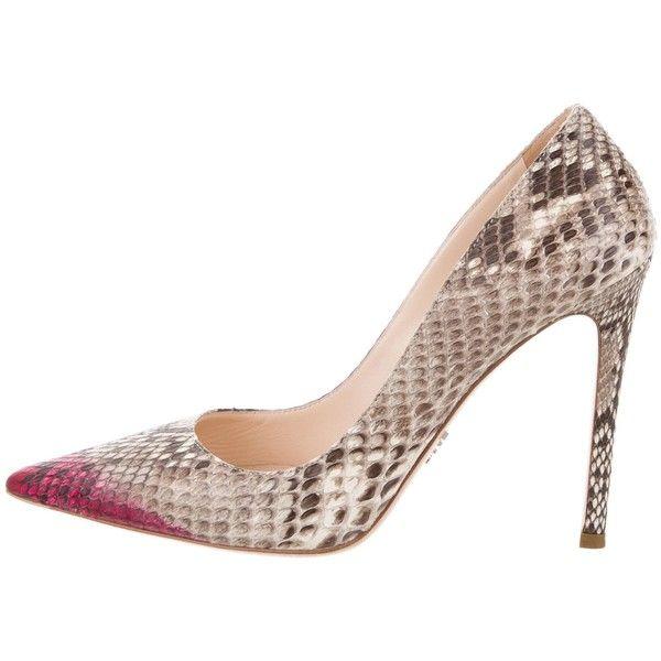Pre-owned - Python heels Prada p5H0aV