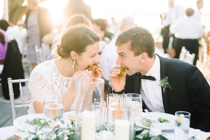 Southern Wedding Menu Ideas | Fried Chicken by PPHG | Spring Wedding at Lowndes Grove Plantation in Charleston SC | Cuisine by PPHG | Photo by Aaron and Jillian