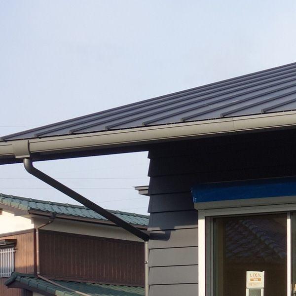 雨樋つきました ガルバリウム鋼板製 ガルバリウム 雨樋 一級建築士