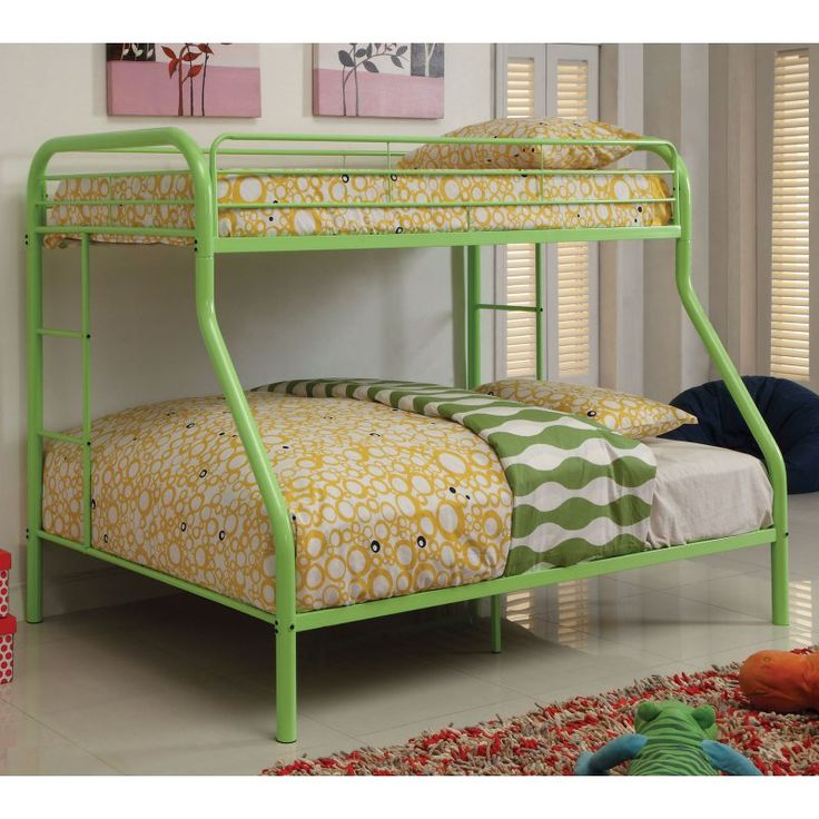 Carleen Modern Twin over Full Bunk Bed with Dual Sided Ladder - IDF-BK1033-AG