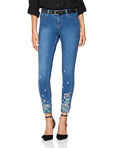 Hem Skinny Darcy Dorothy Perkins Petite Women's Blue Jeans Floral eWH2YEID9