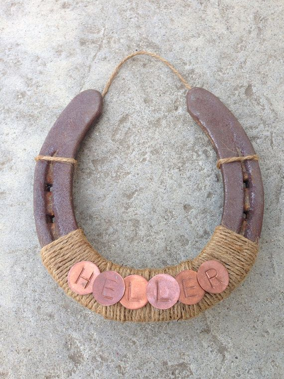 Horseshoe door frame wrapped in twine great way to for Where to buy horseshoes for crafts