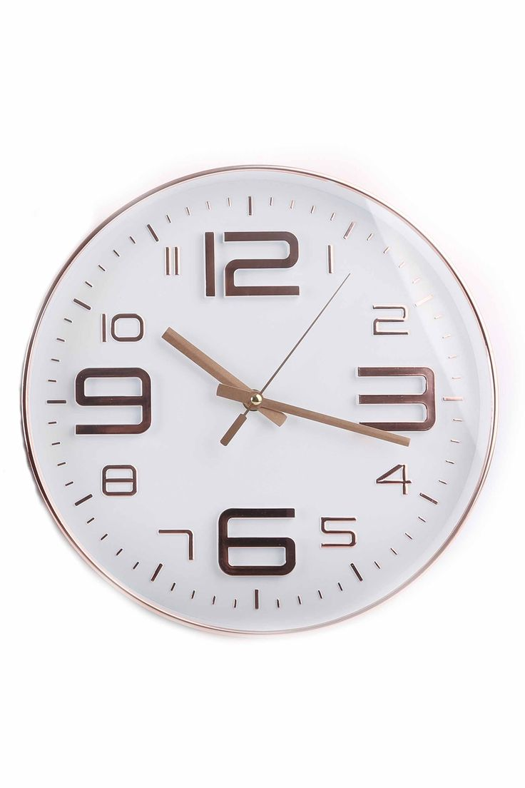 Embossed Round Wall Clock, White | BHS