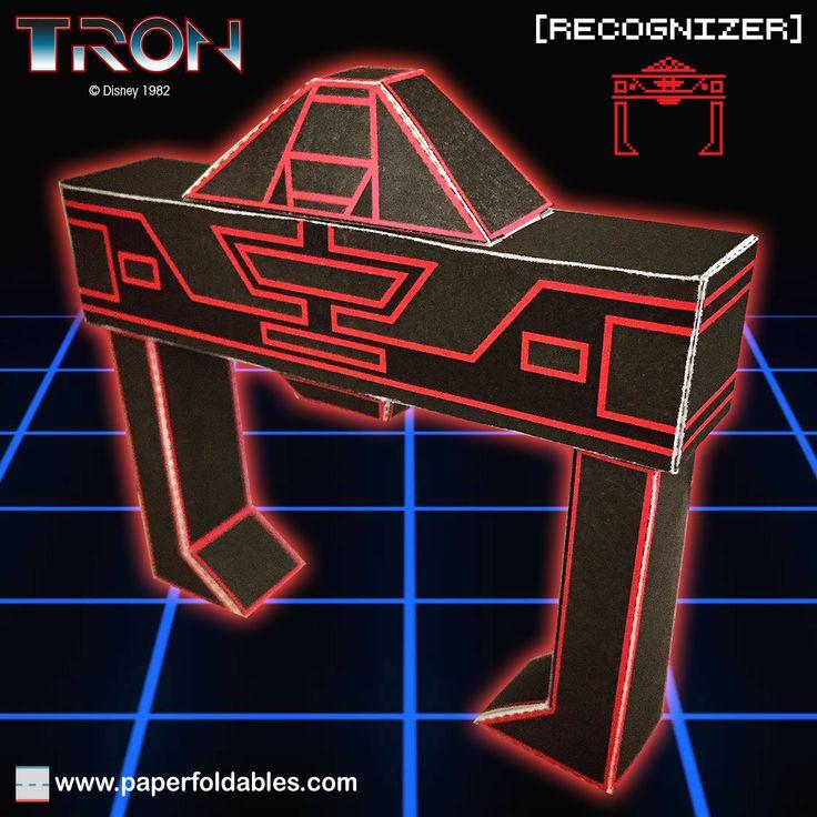 TRON RECOGNIZER Paper Foldable
