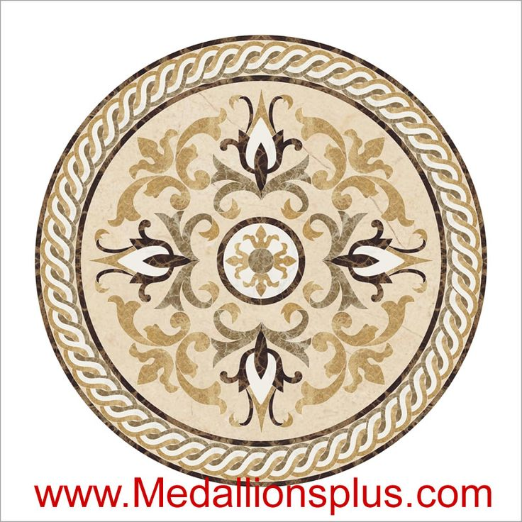 "Madison, 48"" Waterjet Medallion - MedallionsPlus.com - Floor Medallions on Sale. Tile, Mosaic, & Stone Inlays."