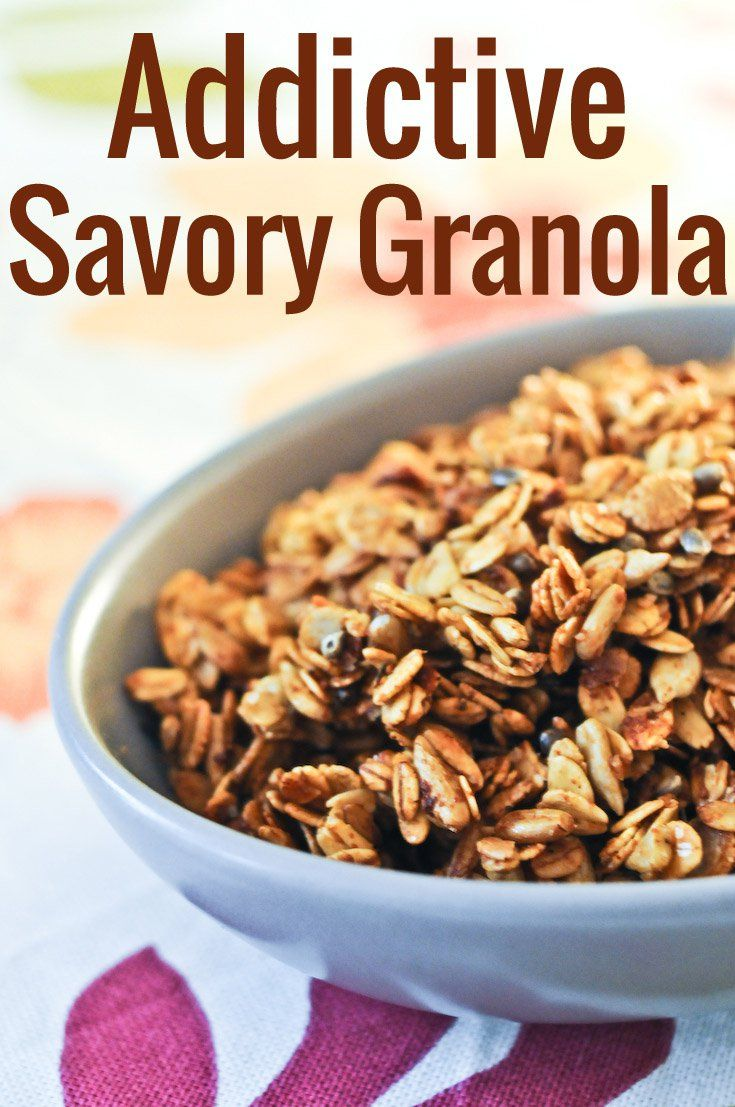 This addictive savory granola makes for an amazing crunchy topping for your vegetable dishes. On its own, it's a divine and healthy snack.