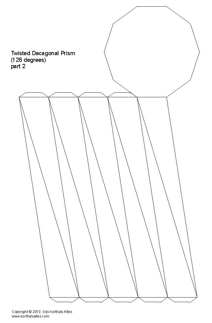 Net twisted decagonal prism | Patterns geometrics | Pinterest ...