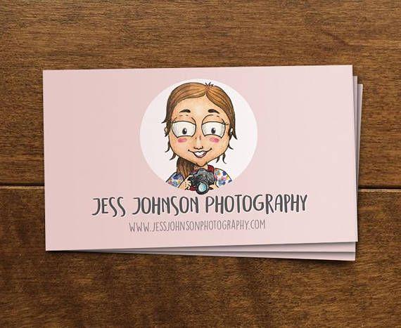 Business Cards Illustration Portrait Business Cards Custom Etsy Illustration Business Cards Business Cards Creative Name Card Design