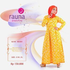 Gamis Rauna Model RK-001 Kuning