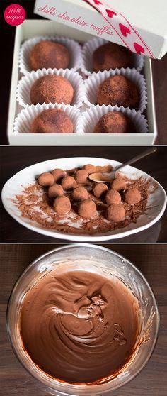 Vegan chocolate truffle
