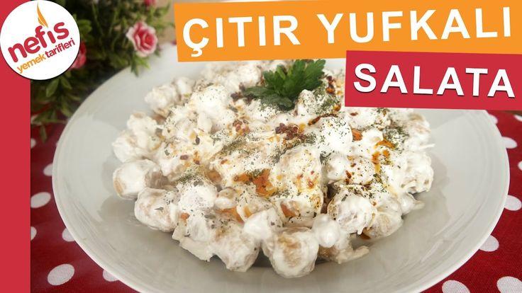 Çıtır Yufkalı Tavuklu Nohut Salatası - Gün Salatası Tarifleri - Nefis Ye...