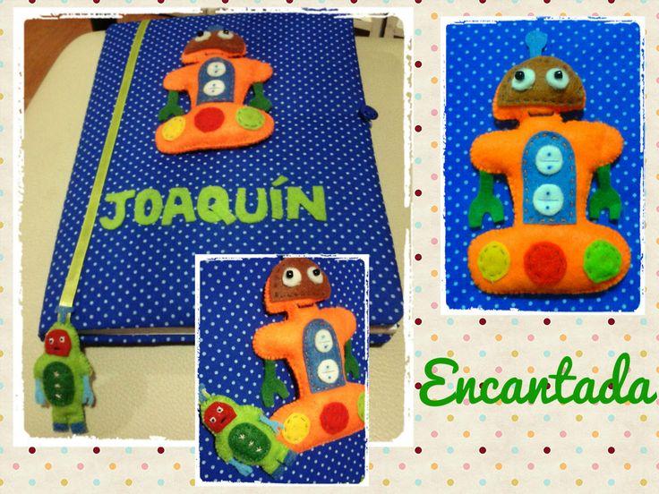 diseño robots- Cuaderno pediatrico- Creaciones Encantada