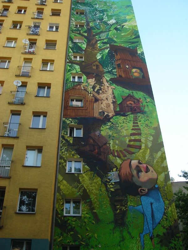 STREET ART UTOPIA » We declare the world as our canvasstreet_art_43 » STREET ART UTOPIAStreet Art Utopia, Urbanart, Urban Art, Graffiti, Treehouse, Gardens Wall, Murals Art, Trees House, Streetart