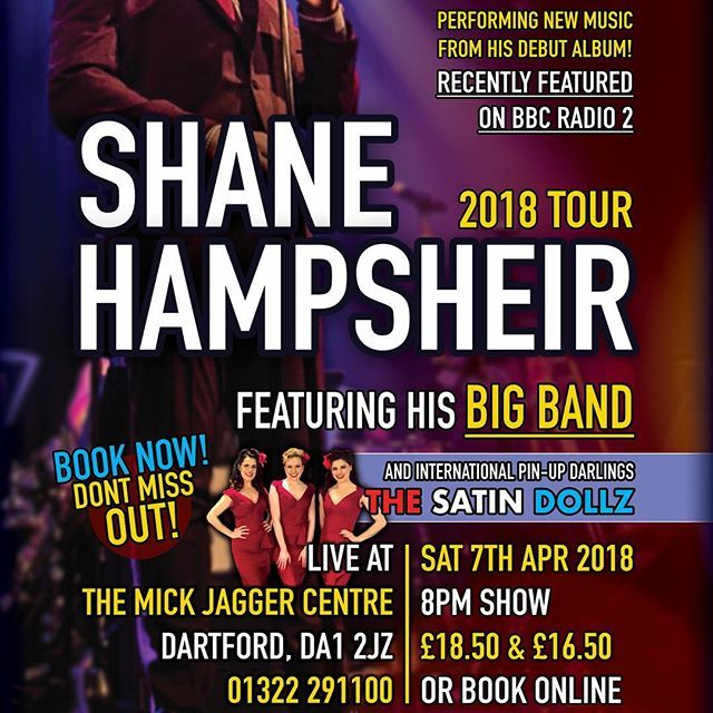 Hey all in Kent and the surrounding areas! This is going to be a huge night in Dartford. My 18-piece BIG BAND THE SATIN DOLLZ DANCERS & ME!!! Book your tickets for 7th April today! . . . #BigBand #Swing #SwingSinger #Album #NewMusic #PerhapsPerhapsPerhaps #IPutASpellOnYou #HallelujahILoveHerSo #TheInCrowd #Jazz #Pop #Dartford #Kent #MickJagger #TheMickJaggerCentre #MJC #SatinDollz #TheSatinDollz #SatinDolls #SwingMusic #Vintage #BigNight #2018 #Tour