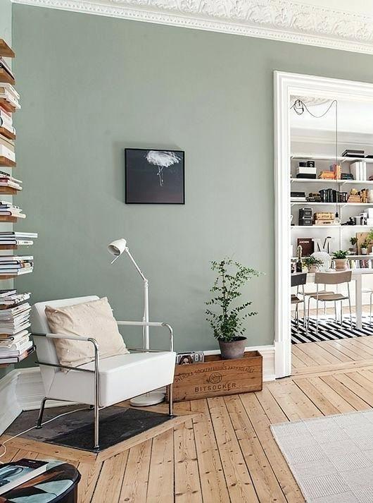 Grüne Farben für Wohnzimmer Innenarchitektur 2018 Pinterest - gardinen fürs wohnzimmer