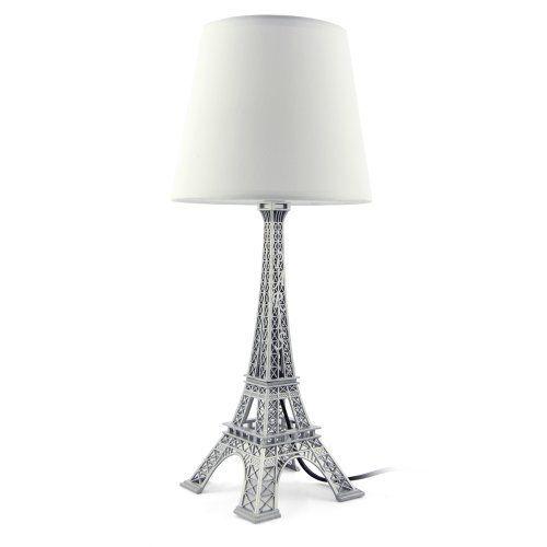 "Eiffel Tower Table Bedside Lamp Shade White H 52cm, 20.5"" by Joylands.com, http://www.amazon.co.uk/dp/B00D7BQ60W/ref=cm_sw_r_pi_dp_DoJ8sb1EV5RYW/279-9771588-6603947"