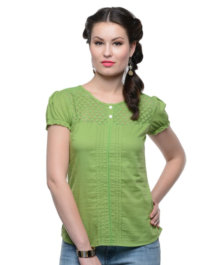 Indulge yourself in an all new assortment of women's kurtis. This range includes edits which are colourful and trendy for the new season. So shop now and flaunt  your outfit with style!BRAND: U&FCATEGORY: Short Sleeves TopCOLOUR: GreenMATERIAL: CottonSIZE: This product conforms to standard brand sizing. For your shopping convenience, please refer to the following size chart. All measurements are in inches.                 Size       S       M       L       XL                  Bust       ...