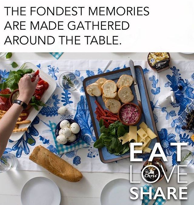 It's no secret we love to entertain here at Chris'! Are you planning on entertaining guests in the near future? Check out our Eat Love Share archives for some recipe inspiration!  Head to eatloveshare.com.au and click on the 'entertaining' recipe category.