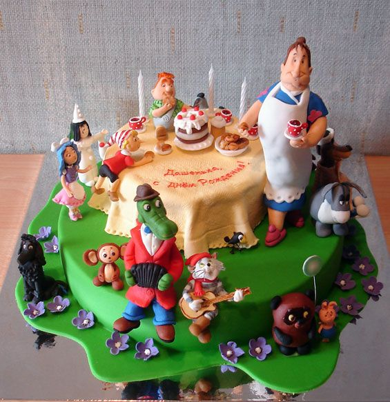 "В гостях у сказки - ""Around the world"" cake. Her figures are so much fun to look at :)"