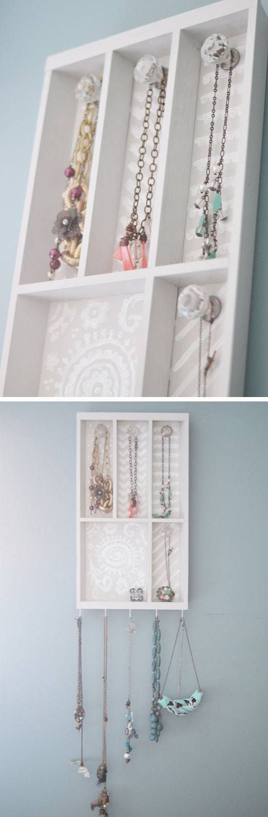 Make a Jewelry Holder from a Cutlery Tray | Click Pic for 18 DIY Jewelry Storage Ideas for Small Bedrooms | Dollar Store Organizing Ideas for the Home