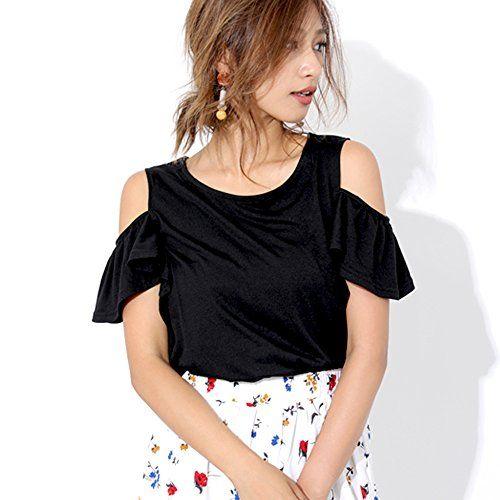 肩空きフリルTシャツ 夏物セール 肩だし 肩空き オープンショルダー レディース トップス Tシャツ カットソー ... https://www.amazon.co.jp/dp/B074BPV986/ref=cm_sw_r_pi_dp_x_gRREzbDNAA3EY