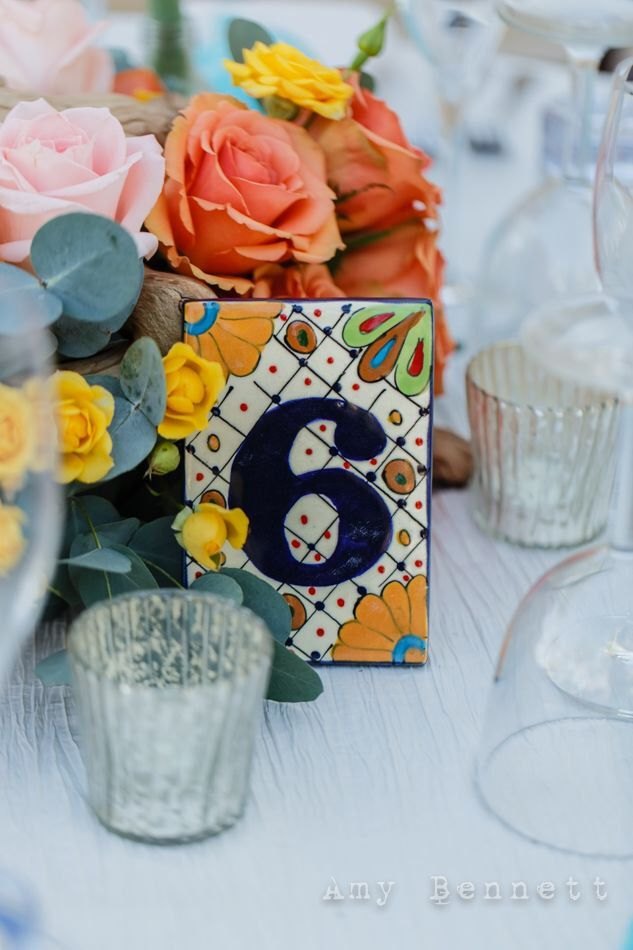 Talavera Tile Table numbers Bridal Shower, Wedding, Rehearsal Dinner, Birthday, Fiesta, Cinco de Mayo by Vintagebabydoll on Etsy https://www.etsy.com/listing/223277691/talavera-tile-table-numbers-bridal