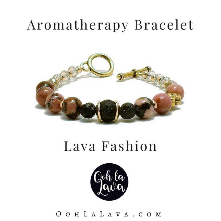 Lava Jewellery | Diffusing bracelet, add essential oil to lava stone. #lavafashion #essentialoilsjewellery #aromatherapyjewellery essentialoils #fashion #model