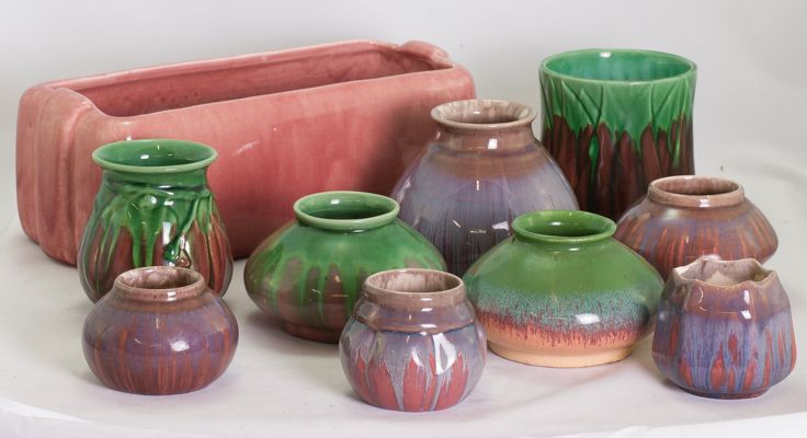 Pink and purple Mel-rose by Hoffman Pottery