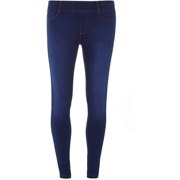 Dorothy Perkins Petite blue 'Eden' Ultra Soft Jeggings ($35) ❤ liked on Polyvore featuring pants, leggings, blue, petite, jeggings pants, petite leggings, blue jeggings, blue pants and denim leggings