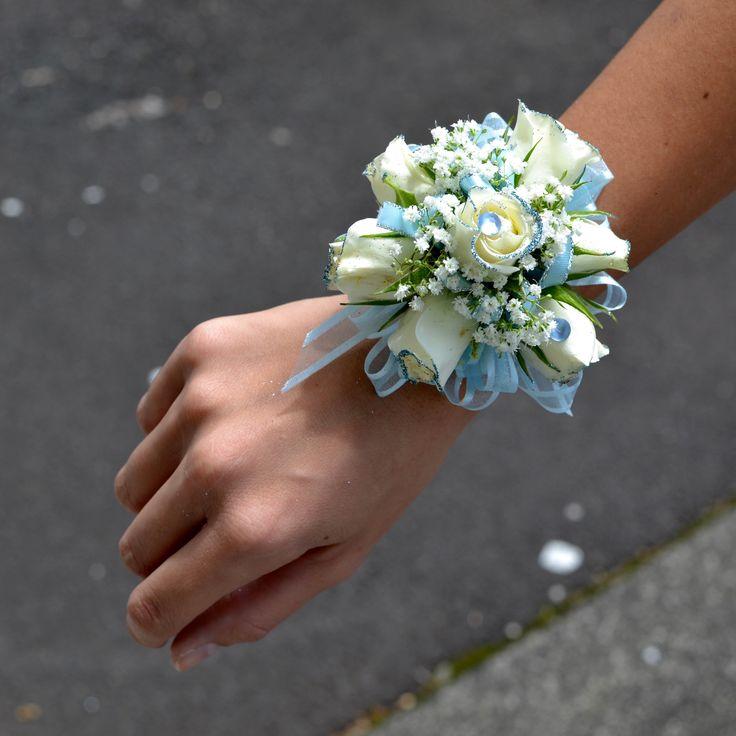 Baby Blue Wristlet   Kui & I Florist, LLC Hilo, Hawaii kuiandiflorist.com #kuian…