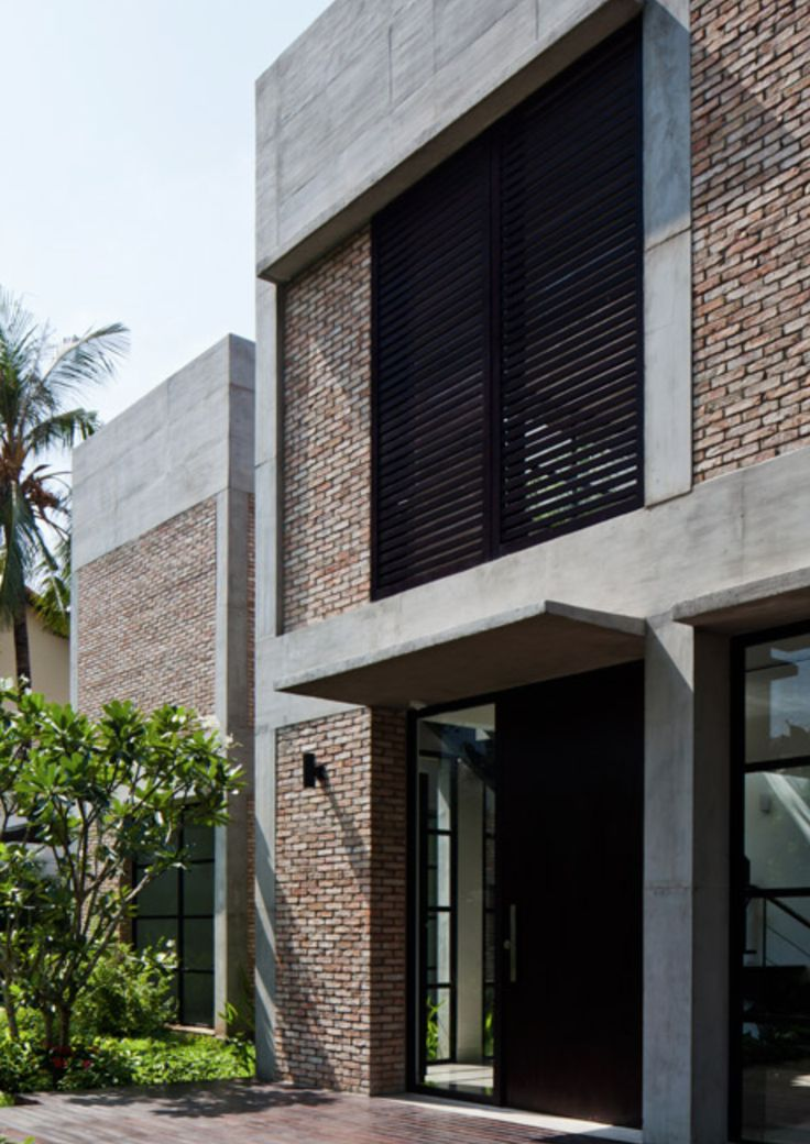 Brick and concrete house