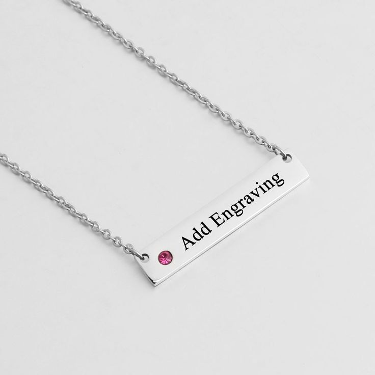 Give this necklace a personal touch with engraved names or messages of love or friendship.