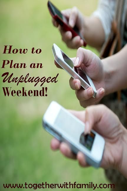 How to plan an unplugged weekend!! This is so good for your family life!