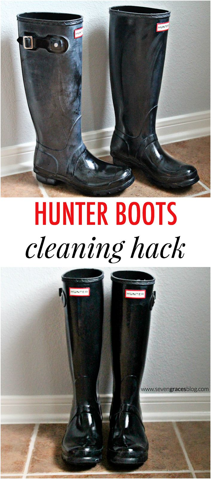 Seven Graces: Currently Confessing: Vol. 52...The One With the Hunter Boots Cleaning Hack