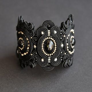 Dark swirling bangle